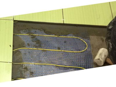 Укладка теплого пола под плитку