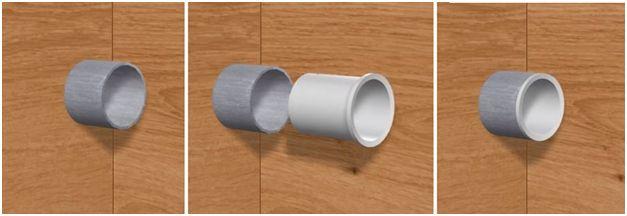 Устройство прохода наружной проводки через внутреннюю стену выполняется с использованием гильзы