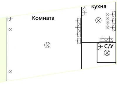 Схема электропроводки в хрущевки