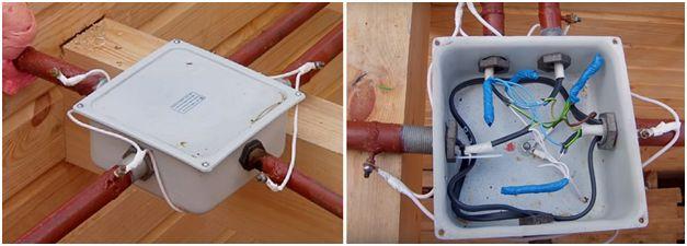 Соединение участков стальных защитных каналов между собой и с коробками производится сваркой или резьбовым способом, медных трубок – пайкой и обжатием