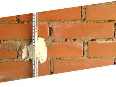 Маяки на кирпичной стене для штукатурки