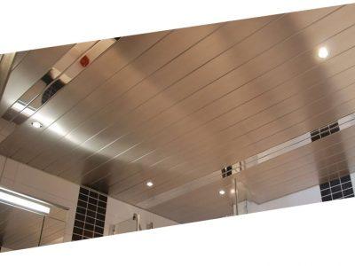 Как разобрать реечный потолок в ванной