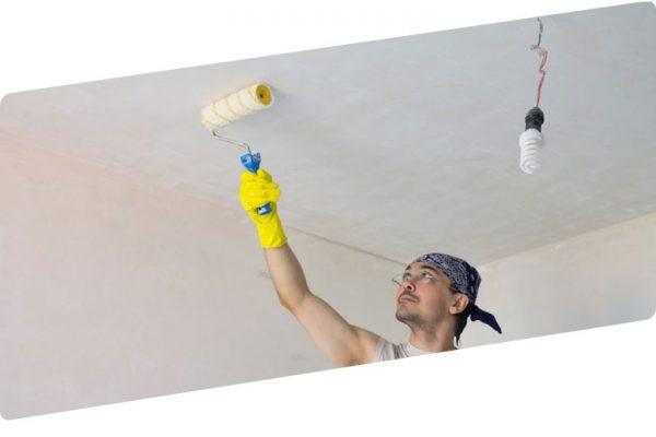 Простой способ покрасить потолок водоэмульсионной краской без разводов
